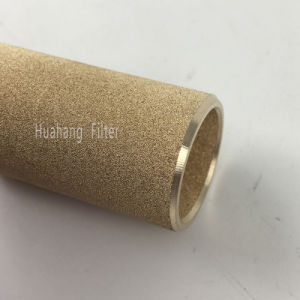 Redutor de ruído metálico poroso bronze sinterizado filtro de pó