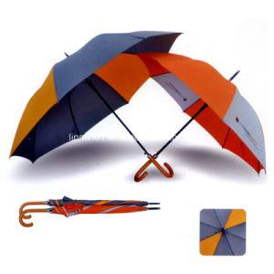 Paraplu van het Golf van het Handvat van de Manier van de douane de Houten Rechte voor PromotieGift