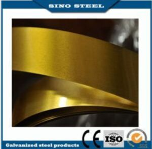 이란을%s 인쇄된 음식 급료 0.25mm 황금 래커를 칠한 생철판