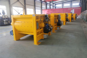 Js500/Js750/Js1000/Js1500/Js2000 Двойной вал конкретные машины заслонки смешения воздушных потоков