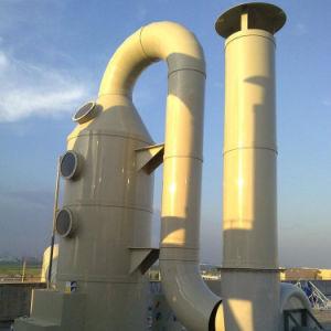 不用な処置のためのガラス繊維FRPのスクラバーの浄化タワー