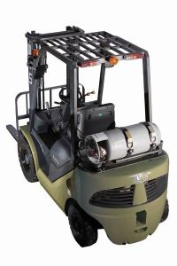 Vorkheftruck van de Benzine van de Capaciteit 2500kg van de V.N. 2.5t en de Dubbele van de Brandstof van LPG met de Originele Japanse Ingevoerde Motor van Nissan K25