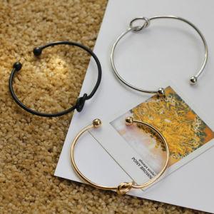 Origineel Ontwerp Eenvoudig over de Zuivere Armband van de Knoop van de Liefde van het Koper Gietende