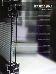 Entre el cristal de aleación de aluminio Persianas contraventanas de madera sintética de la plantación de las puertas para Windows