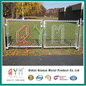 Galvanizado y de calidad o de plástico recubierto de PVC Puertas Valla eslabonada