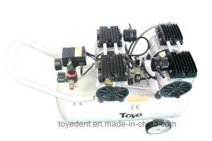 L'équipement médical Oilless silencieux Compresseur d'Air 65L avec tuyau métallique 2.2HP 4 Fauteuils dentaires