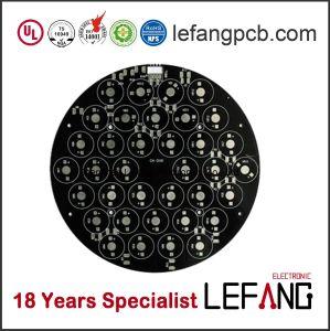 Dupla Lf-HASL placa PCB de iluminação LED com solda preto
