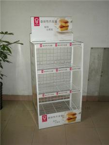 Kundenspezifische Draht-Metallkuchen-Fußboden-Bildschirmanzeige-Zahnstange speichern