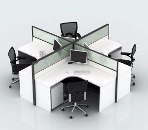 Nuova stazione di lavoro delle forniture di ufficio con lo schermo del divisore in vetro (SZ-WST632)
