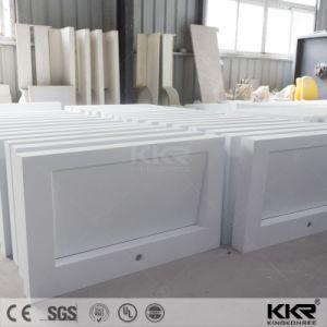 デザイン白いCorianの一義的な流しのSoildの表面の浴室の壁の洗面器