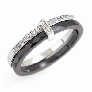 Fashion 925 Sterling Silver Ring de bijoux, de la moissonneuse-batteuse en Céramique Bijoux en argent (R20034)
