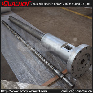 HDPEの管またはシート押し出し機ラインまたは予備品のための90/33の75/33の65/33のL/D33極度の高速ねじバレル