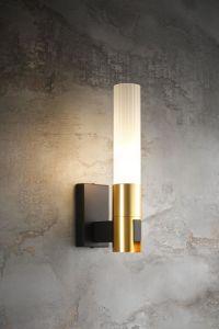 Decoración 1 Gold lite E14 de la vanidad de la luz de la pared de cristal esmerilado con-11893-1 (MB)