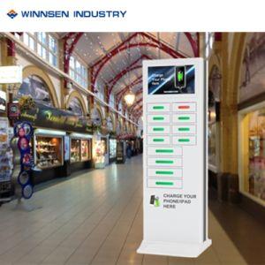 Free Standing Celular Estación de carga y quiosco de publicidad