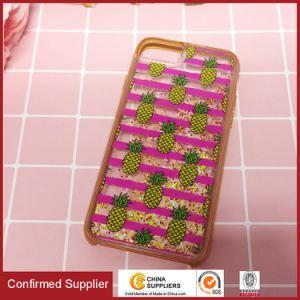 新しいデザイン液体のきらめきのQuickstandのiPhone 6/7/8のための流れる輝きの携帯電話の箱