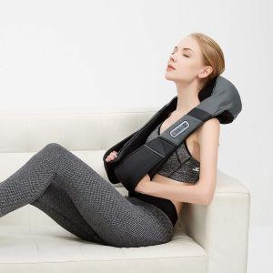 Comercio al por mayor en el cuello hombro masajeador Shiatsu masaje con calor profundo amasar