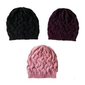 女性柔らかいSilklyはケーブルの帽子の帽子の帽子を好む