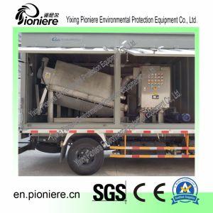 Het mobiele Ontwaterende Systeem van de Modder van het Type van Schroef voor de Post van de Behandeling van afvalwater