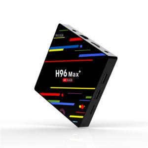 人間の特徴をもつクォードのコアH96 Max+ Rk3328 4G 64G2018最もよい二重コア人間の特徴をもつスマートなTVボックス