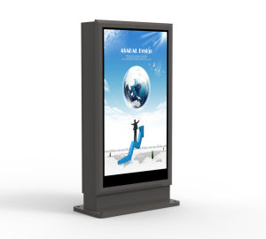 55дюйма для использования внутри помещений стойка Киоск ЖК-дисплей рекламы киоск Digital Signage