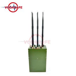 Emittente di disturbo militare del convoglio, emittente di disturbo a più bande di Manpack per la macchina fotografica senza fili di GSM/2g/3G/4glte/GPS/Lojack/VHF/UHF/l'emittente di disturbo chiave/Bloker dell'automobile