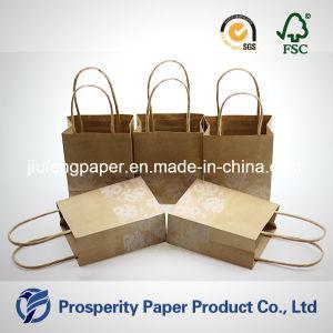 De mini Afgedrukte Handtas van het Document van Kraftpapier