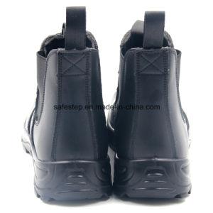 Escenas de acción Puntera Cuero Zapatos de seguridad