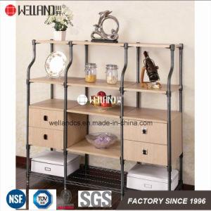 Zhongshan patente Changsheng Sala de design de mobiliário Steel-Wooden de armazenamento