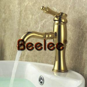 金コックは、ハンドルの浴室の洗面器の混合弁Q3048gを選抜する