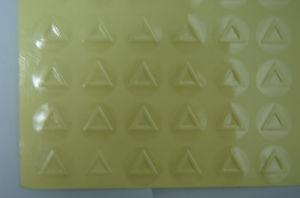 Europäische Durchmesser-Kreis-18mm angehobene Dreieck-warnende taktilkennsätze des Standard-Raum-Vinyl25mm/Aufkleber