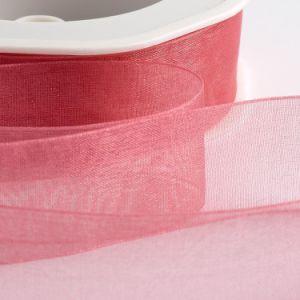 新しいデザインDlowerの泡立つ印刷されたオーガンザのリボン