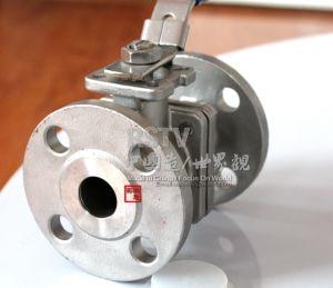 Valvola a sfera della flangia 2PC dell'acciaio inossidabile