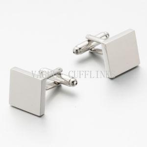 Gemello quadrato placcato d'argento 701 di VAGULA