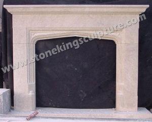 De natuurlijke Marmeren Mantel van de Open haard van de Gravure van de Hand (sk-2587)