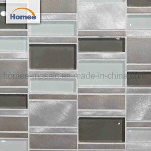 De hete Tegel van het Mozaïek van het Glas van de Strook van de Verkoop Grijze Aluminium Gemengde