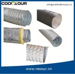 Ronda Coolsour conducto de la lámina de aluminio flexible de conductos de aire HVAC