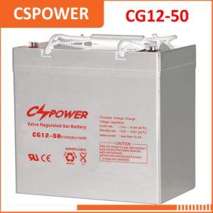 12V50Ah Гелиевый аккумулятор солнечной энергии для освещения улиц Cg12-50