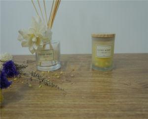 Velas Aromáticas, color y fragancia de fruta Vela de cera de la copa de cristal