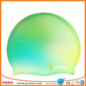 Material de silicone personalizado desportiva confortável touca de natação