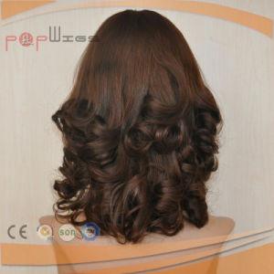 巻き毛の人間の毛髪のかつら(PPG-l-0295)