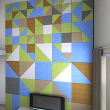 Écran antibruit de fibre de qualité pour le traitement de décoration et de son