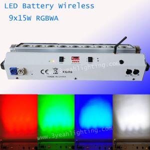 15W x 9 Wireless con pilas, lavado de pared LED de luz