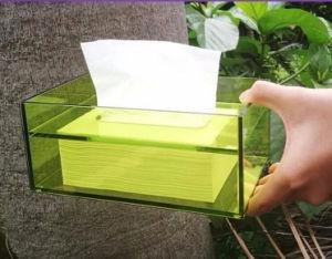 Papier décoratif Boîte de stockage de tissus en acrylique/Serviette Serviette de table/Case/conteneur/CAS/titulaire
