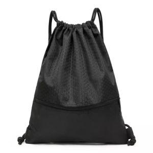 420d cordón de nylon poliéster impermeable bolso/mochila Drawstring mayorista/promocional de los niños de la bolsa de cordón de ajuste personalizado