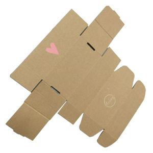 Fsc marrón Material reciclado Caja de cartón ondulado con diseño de logotipos