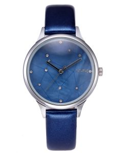 디자인 별 다이얼 숙녀 일본 운동 가죽 손목 시계 (WY-080)
