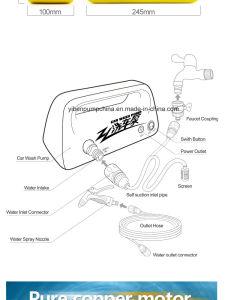 DC 12V 160psi de presión alta Bomba de lavado de coches