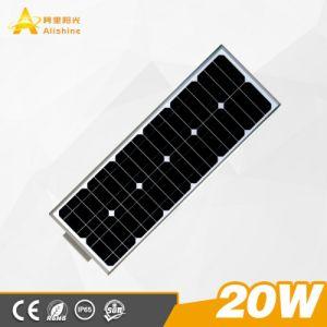 20W raffreddano gli indicatori luminosi di via solari tutti compresi bianchi del LED con CCTV/WiFi/Radar/Sensor
