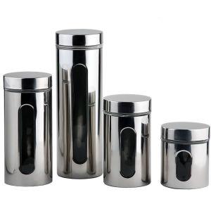 Frasco de vidrio con capa de metal para la cocina conserva
