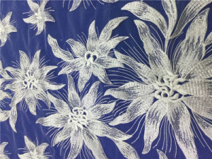 イブニング・ドレスのための流行の刺繍のフランスの刺繍されたレース